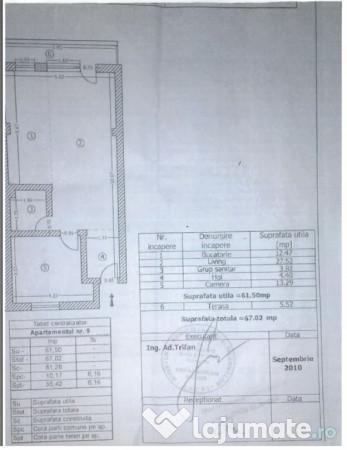 Vanzare  apartament  cu 3 camere Teleorman, Bragadiru  - 50000 EURO