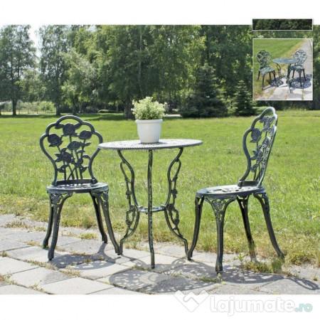 segv201 set masa si scaune gradina terasa balcon verde ron. Black Bedroom Furniture Sets. Home Design Ideas