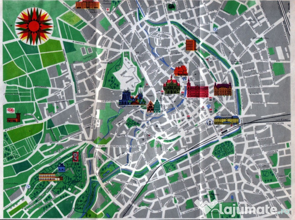 Erfurt Harta Orasului 14 Lei Lajumate Ro