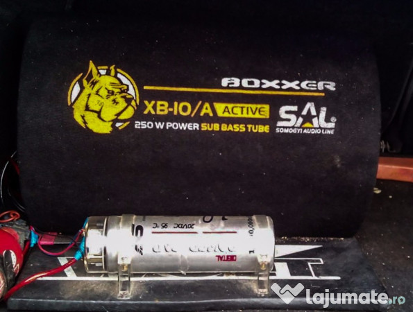 Subwoofer auto activ sal xb 10 a condesator 1 farad 370 for Mueble 2 din seat leon 1m