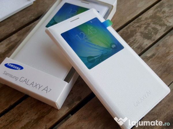 9ef31bc7288 Husa Flip s-view Originala Samsung Galaxy A7 2015 Noua alba, 29 ron ...