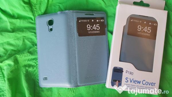 promo code 1492d 637d1 Husa Noua Flip cover S-view pt Samsung Galaxy S4 Mini Piele, 30 ron
