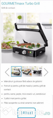 grill electric din ceramica gourmetmaxx turbo grill 180 ron. Black Bedroom Furniture Sets. Home Design Ideas
