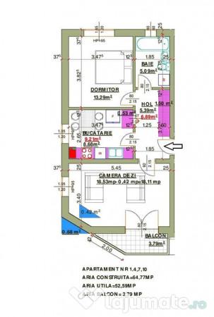 Apartament 3 Camere Nemobilat In Calea Cisnadiei