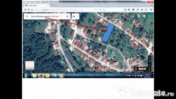 Vanzare  terenuri constructii  1144 mp Caras Severin, Rusca Montana  - 8500 EURO