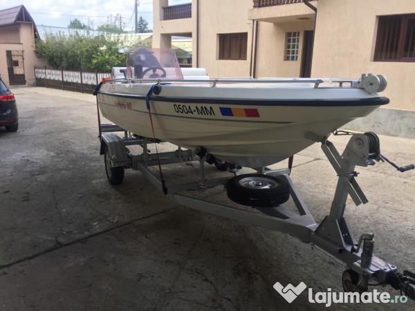 barca cu motor suzuki 50 cp 4t si peridoc inmatriculat 6 000 eur